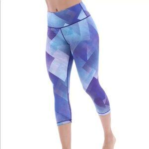 Marika BlueBurst Ava Reversible Capri Legging Sz-M